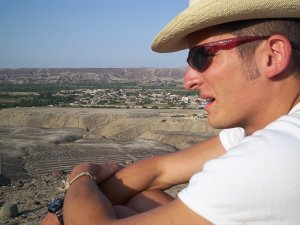 Besuch der Pampa, Besichtigung von Bodenzeichnungen, PERU