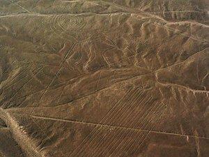 Luftaufnahme des Affen, Bodenzeichnung nahe Nasca, Entdeckt von Maria Reiche, PERU