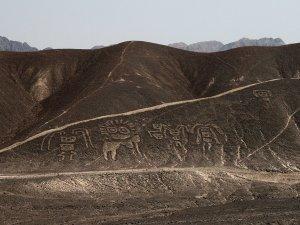 Pampa colorada, Bodenzeichnung nahe Palpa, PERU