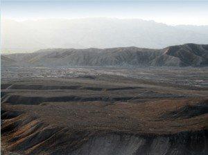 Linien und Bodenzeichnungen von Nasca, PERU