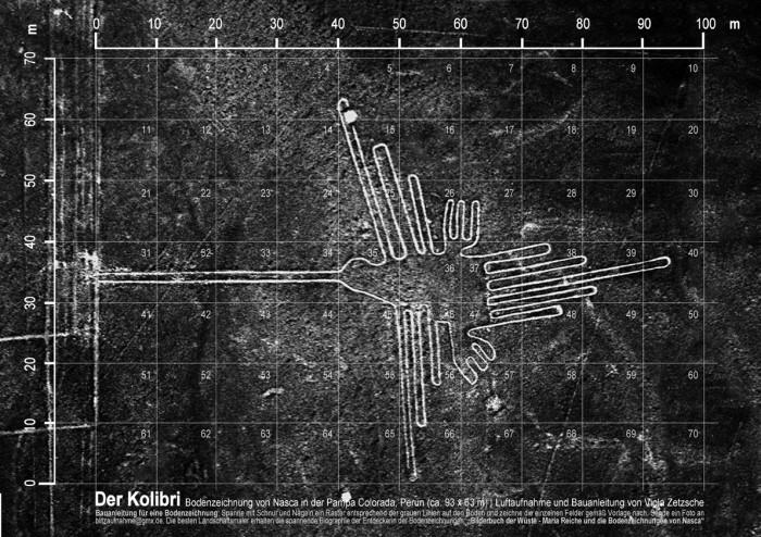 Bauanleitung Kolibri in der Pampa von Nasca Peru Foto und Idee von Viola Zetzsche nach Vermessung Maria Reiche e1341345705945 PERU | Bilderbuch der Wüste