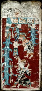 Tafel 74 des Codex Dresdensis die große Flut 215 x 10 cm Der Codex Dresdensis   Maya Handbuch für die Nachwelt